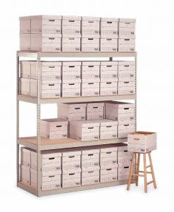 "Penco Products Record Storage 4 Shelf Starter Unit 15""D x 42""W x 84""H"