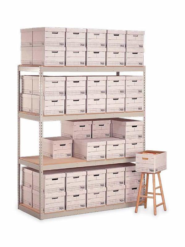 "Penco Products Record Storage 4 Shelf Starter Unit 30""D x 69""W x 84""H"