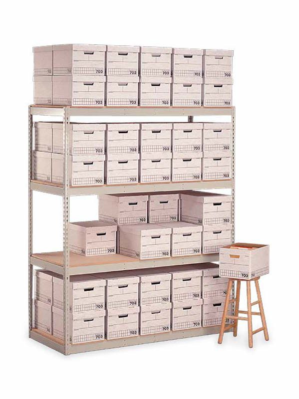 Penco Products Record Storage 4 Shelf Starter Unit 15″D x 42″W x 84″H 1