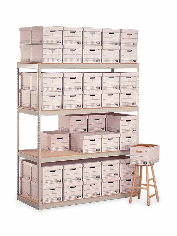 "Penco Products Record Storage 4 Shelf Starter Unit 15""D x 42""W x 84""H"