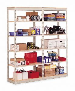 "Penco Products Single Rivet 8 Shelf Add On Unit 36""D x 36""W x 84""H"