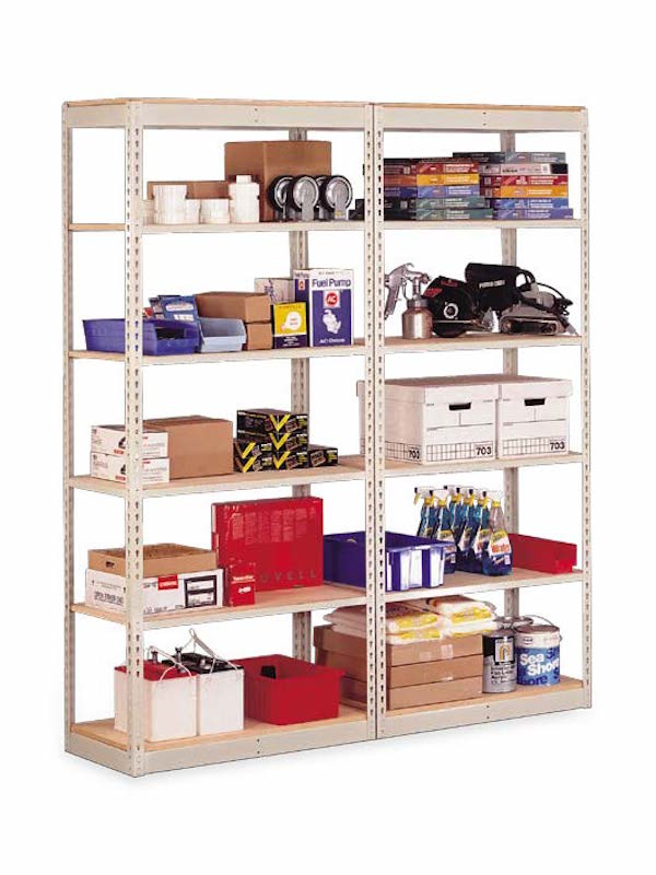 "Penco Products Single Rivet 5 Shelf Add On Unit 12""D x 36""W x 84""H"