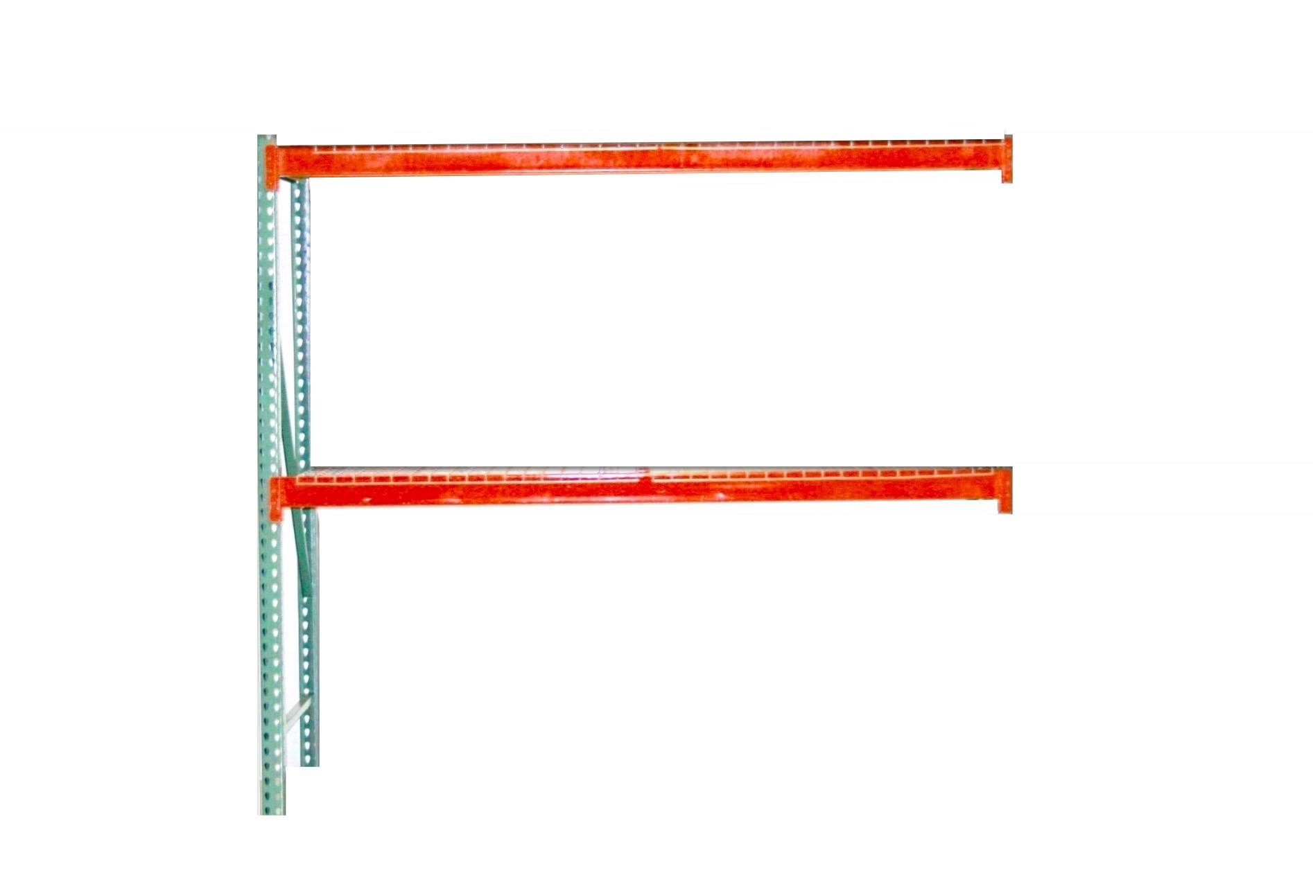 """TP Rack Universal Teardrop Rack Add On Unit 36"""" D x 96"""" W x 120"""" H - Wire Decking Included"""