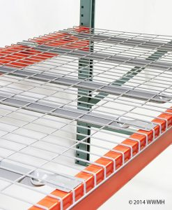 "42"" D x 46"" W Wire Mesh Deck 2500 Lbs. Capacity Flared Support"