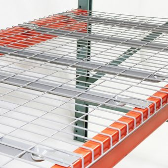 """44"""" D x 46"""" W Wire Mesh Deck 2500 Lbs. Capacity Flared Support"""