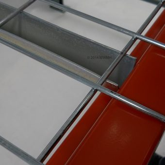 60″D x 58″W Wire Mesh Deck 2500 Lbs