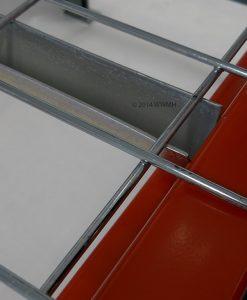 "42"" D x 58"" W Wire Mesh Deck 2500 Lbs. Capacity Standard Waterfall"