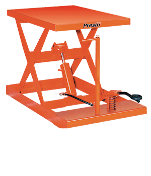 Presto Lifts Light-Duty Manual Scissor Lift Table XF24-10 – XF24 Series – 1000 Lbs