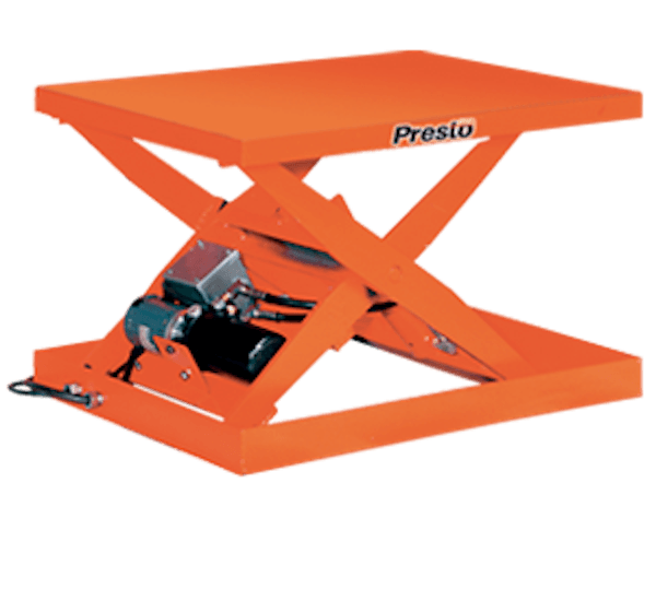 Presto Lifts Light-Duty Electric Scissor Lift Table XS24-15 – XS24 Series – 24″ Travel – 24″W x 36″L Platform – 1500 Lbs