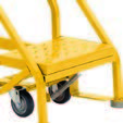 4 Step - Heavy-Duty Steel Warehouse Rolling Ladder