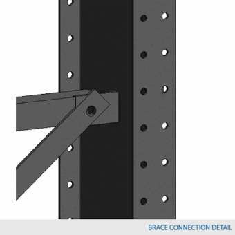 Cross-brace Type 1 for columns 48″ c/c 2