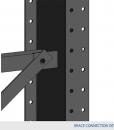 Horizontal brace Type 1 for columns 48″ c/c 2