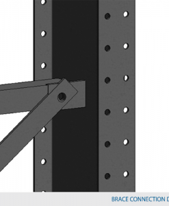 "Cross-brace Type 1 for columns 60"" c/c"