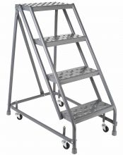 4 Step - Steel Warehouse Rolling Ladder - Without Handrails