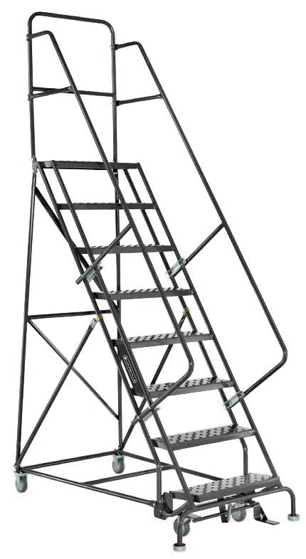 12 Step Steel Warehouse Rolling Ladder