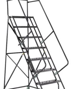 7 Step - Steel Warehouse Rolling Ladder