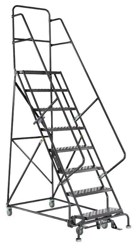 11 Step - Steel Warehouse Rolling Ladder