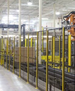 "Robotic Machine Guarding Panel - 4'-8"" Wide x 7'-2"" High (exact panel size) - Framed 2""x1""x10GA welded wire mesh"
