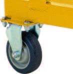 5 Step - Heavy-Duty Steel Warehouse Rolling Ladder