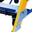 12 Step - Fiberglass Safeguard Mobile Platform Rolling Ladder