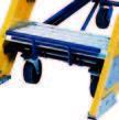 10 Step - Fiberglass Safeguard Mobile Platform Rolling Ladder