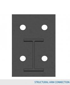 "Type 1 Arm 48""L w/ 3,000 lbs max load capacity (5""HD Structrual I-Beam Profile Arm / 1.5° incline)"