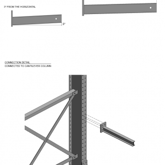 Type 1 Arm 48″L w/ 2,000 lbs max load capacity (4″HD Structural I-Beam Profile Arm / 1