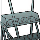 5 Step - Steel Warehouse Rolling Ladder