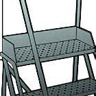 6 Step - Steel Warehouse Rolling Ladder