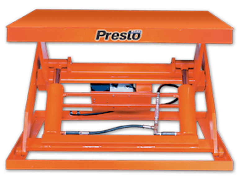 Presto Lifts Hydraulic Wide Base Lift Tables X4W Series – 36″ Travel – 2000 Lbs
