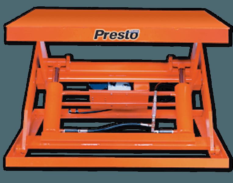 Presto Lifts Hydraulic Wide Base Lift Tables X4W Series – 48″ Travel – 2000 Lbs