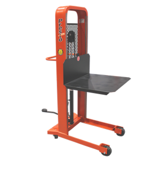"Presto Lifts Manual Lift Stacker M366 M300 Series - Platform (32""W x 30""L) - Raised Height 66"""