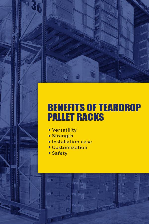 Teardrop vs  Double Slotted Pallet Racks   T P  Supply Co